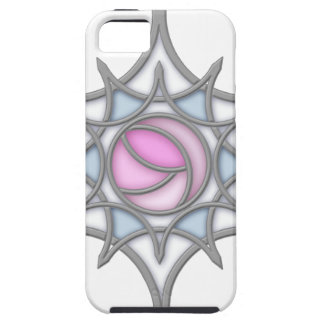 Geometric Art Nouveau Rose within a Snowflake Case For The iPhone 5
