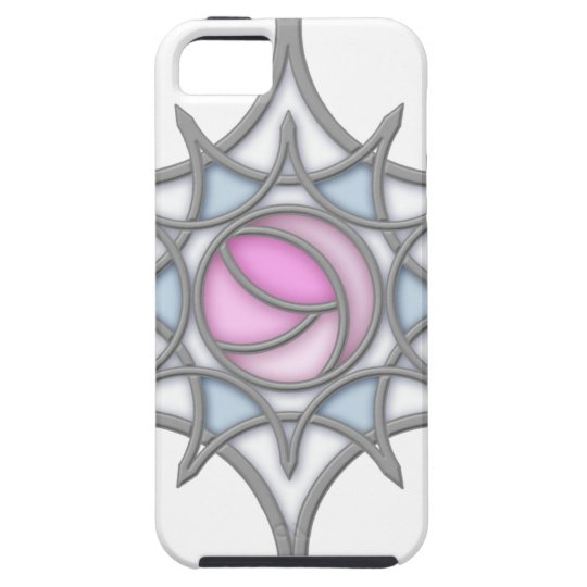 Geometric Art Nouveau Rose within a Snowflake Case