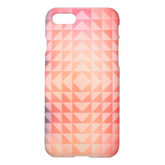 Geometric Art Triangles Fractals Blue and Orange iPhone 7 Case