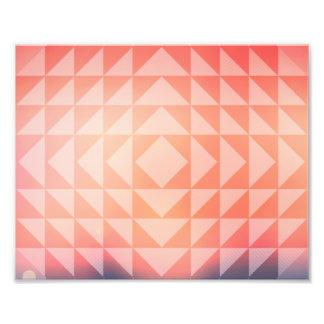 Geometric Art Triangles Fractals Blue and Orange Photo