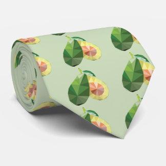 Geometric avocado tie