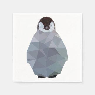 Geometric Baby Penguin Print Disposable Napkin