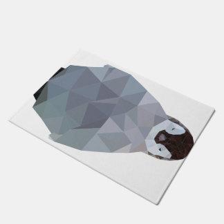 Geometric Baby Penguin Print Doormat