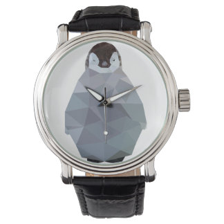 Geometric Baby Penguin Print Watch