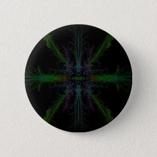 Geometric background 6 cm round badge