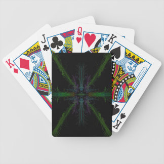 Geometric background bicycle playing cards