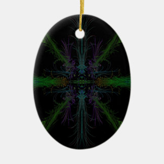 Geometric background christmas ornament