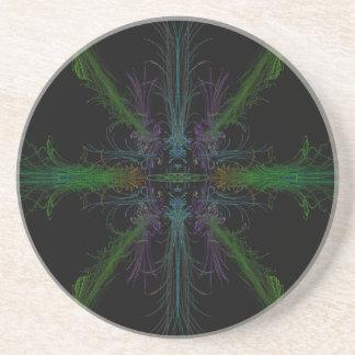 Geometric background coaster