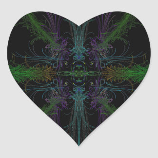 Geometric background heart sticker