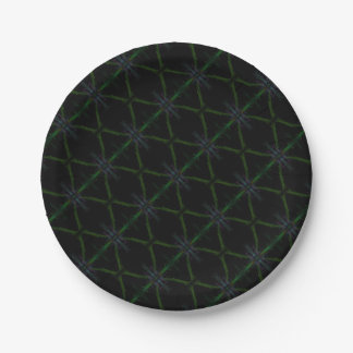 Geometric background paper plate