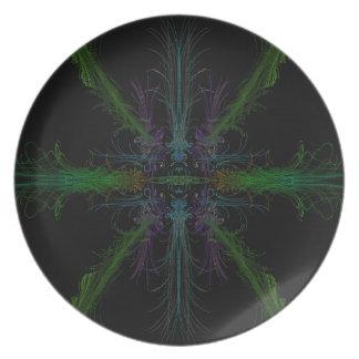 Geometric background plate