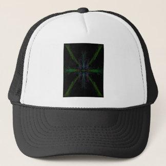 Geometric background trucker hat