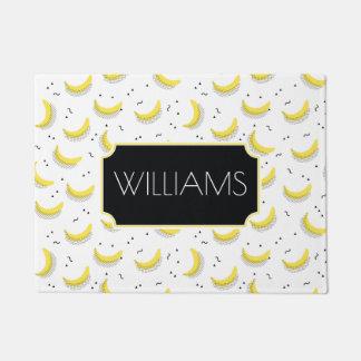 Geometric Bananas | Add Your Name Doormat