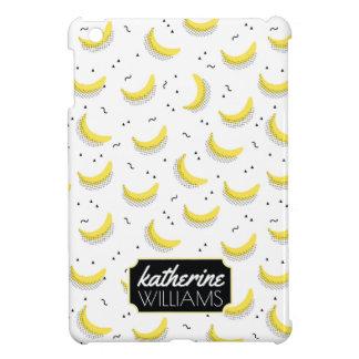 Geometric Bananas | Add Your Name iPad Mini Covers