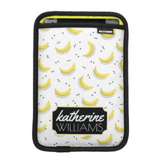 Geometric Bananas | Add Your Name iPad Mini Sleeves