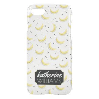 Geometric Bananas   Add Your Name iPhone 7 Case