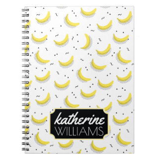 Geometric Bananas | Add Your Name Spiral Notebook