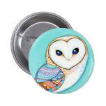 Geometric Barn Owl Pins