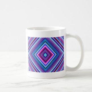 geometric basic white mug