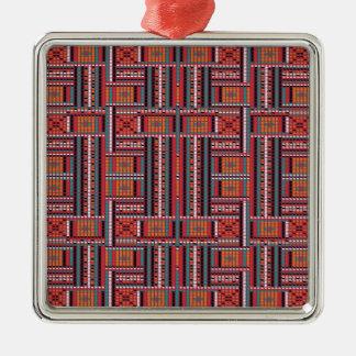Geometric Bead Effect Pattern Ethnic Tribal Look Christmas Ornament