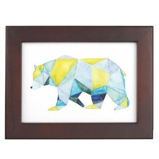 Geometric Bear Animal Keepsake Box