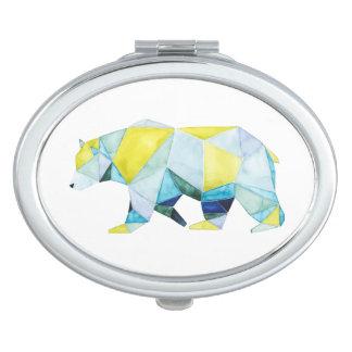 Geometric Bear Animal Vanity Mirrors
