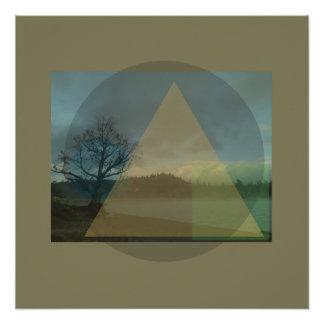 Geometric Big Bear Lake Design poster