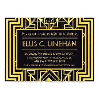 Geometric Birthday Party Invitations