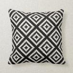 Geometric Black and Cream Pattern Cushion