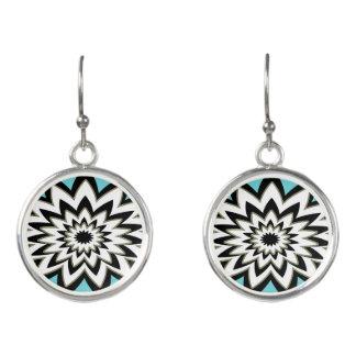 Geometric Black and White Earrings