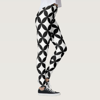 Geometric Black and White Pattern Leggings