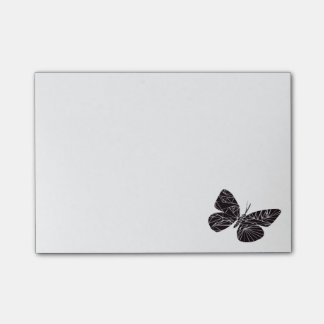 Geometric black butterfly post-it notes