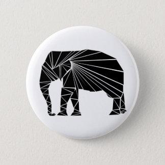 Geometric black elephant 6 cm round badge