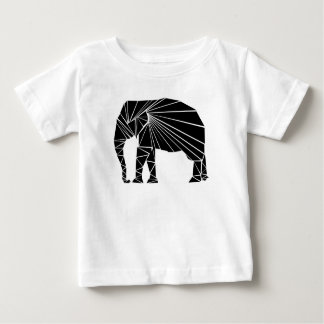 Geometric black elephant baby T-Shirt