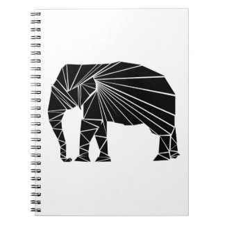 Geometric black elephant notebooks