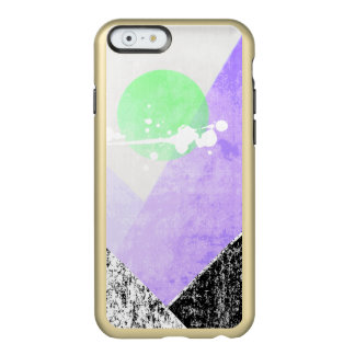 Geometric Black Purple Mountains Design Quilt Art Incipio Feather® Shine iPhone 6 Case