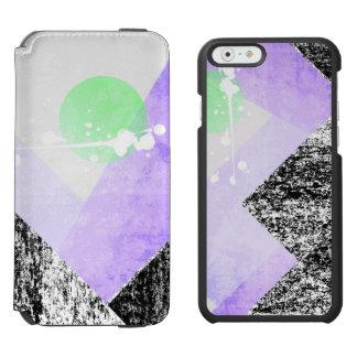 Geometric Black Purple Mountains Design Quilt Art Incipio Watson™ iPhone 6 Wallet Case