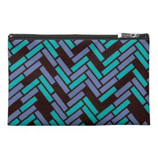Geometric Black, Teal and Purple Bag Design Travel Accessories Bag
