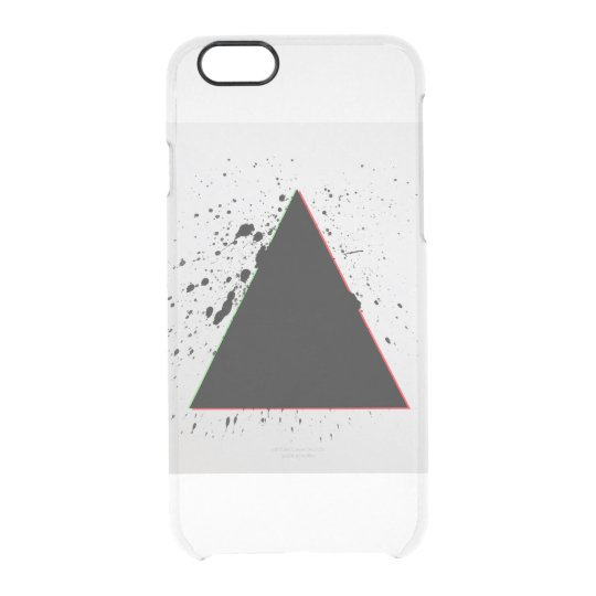 Geometric Black Triangle Paint Splatters Clear iPhone 6/6S