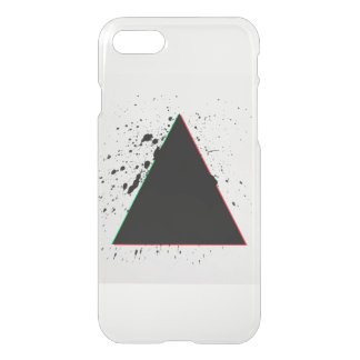 Geometric Black Triangle Paint Splatters iPhone 7 Case