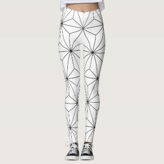 Geometric Black & White Leggings