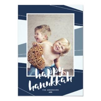 Geometric Block | Hanukkah & Christmas Interfaith 13 Cm X 18 Cm Invitation Card