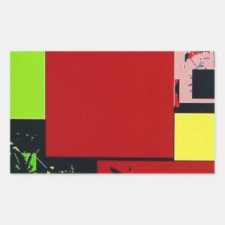 Geometric Blocks Abstract Art red design Stickers