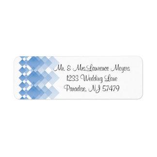 Geometric Blue Diamonds   Wedding