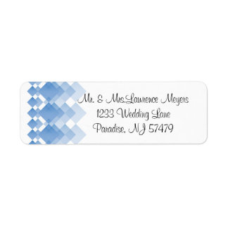 Geometric Blue Diamonds | Wedding Return Address Label