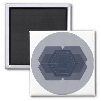 Geometric Blue Magnet