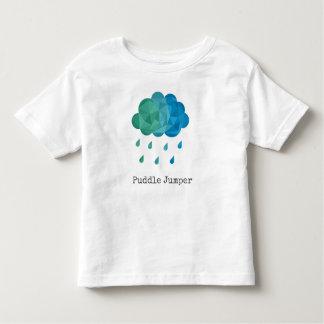 Geometric Blue Rain Cloud Puddle Jumper Toddler T-Shirt