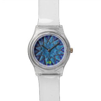 geometric blues wristwatches