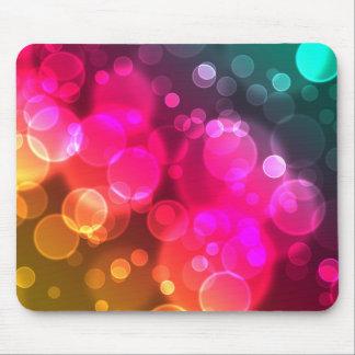 Geometric Bokeh Bubbles Mousepad