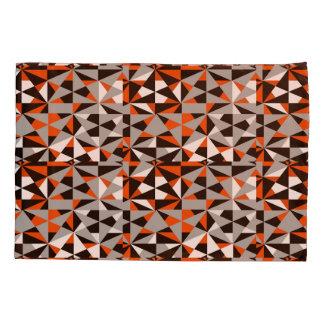 Geometric Bold Retro Funky Orange Grey Black White Pillowcase